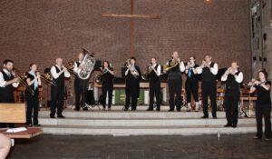 Das 2018 eurobrass Ensemble in der Ev. Versöhnungskirche in Oldenburg